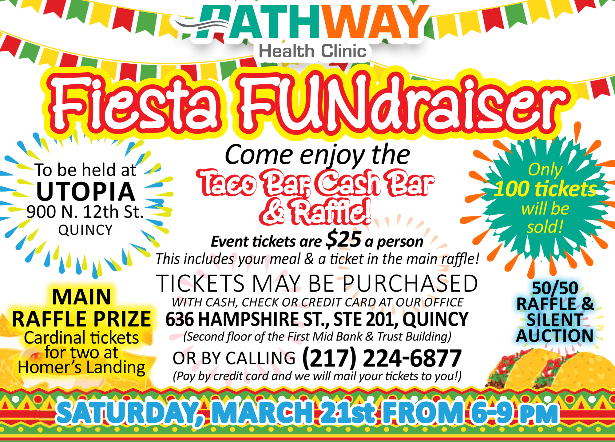 Pathway Health Clinic Fiesta Fundraiser Event Flyer